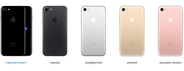 iphone 7 цвета фото