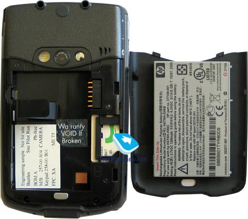 ipaq hw 6515 batteria non si