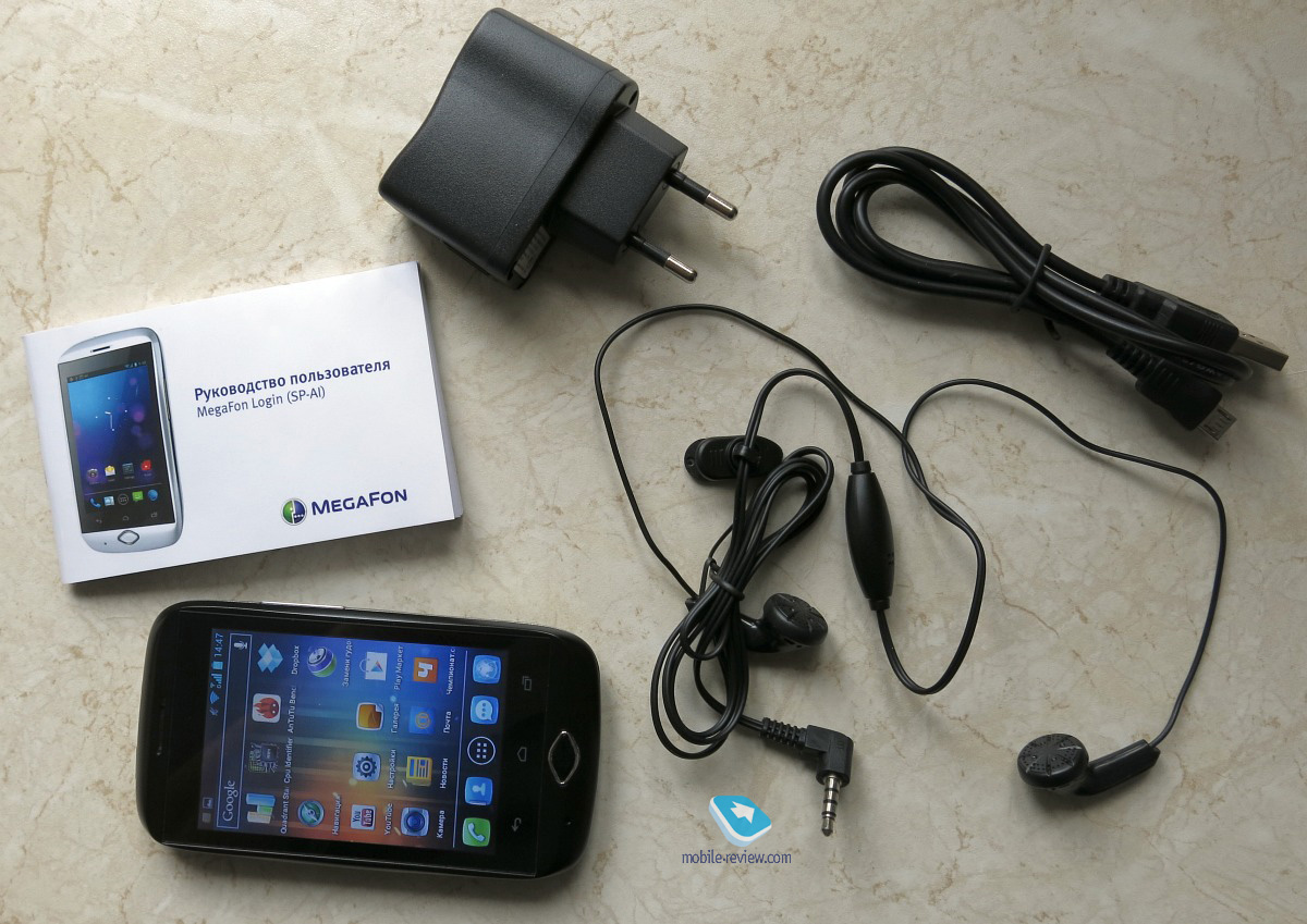 Mobile-review.com «МегаФон Login»: бюджетный смартфон на Android 4.0